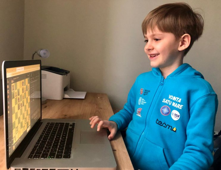 Success at Satu Mare in the online national chess tournament for the age group