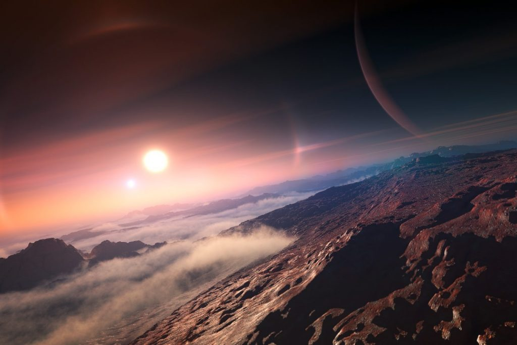 The planets rotate at a perfect rhythm in this solar system