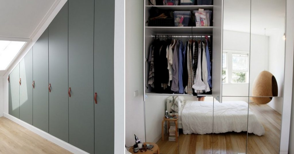 8 ingenious built-in wardrobes for a small apartment: absorb a lot of things and look good - home