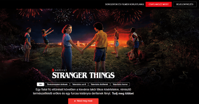 Netflix launched a free page, in addition to Hungarian sync