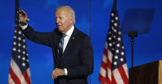 Biden approached the White House