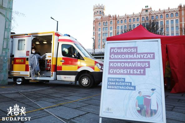 District 1 - Buda Castle is not good news: There are twice as many positive cases as in the December tests.  But there's still room if you want a free test