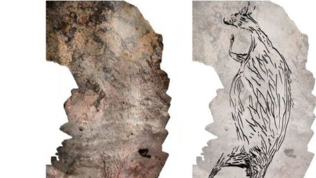 Find out what a 17,000-year-old cave drawing depicts