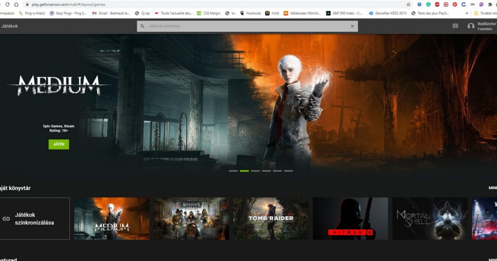 Index - Tech - Geforce Now is already running from your browser window