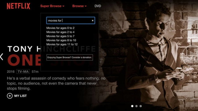 Browse Netflix Super