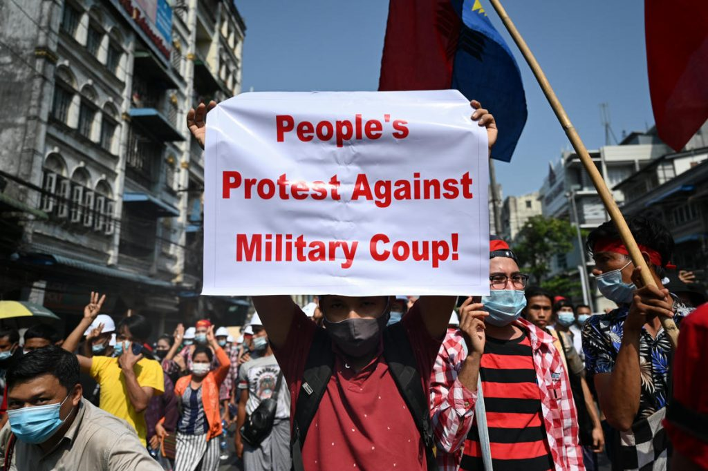 The internet was shut down in Myanmar by the military, who criticized the government