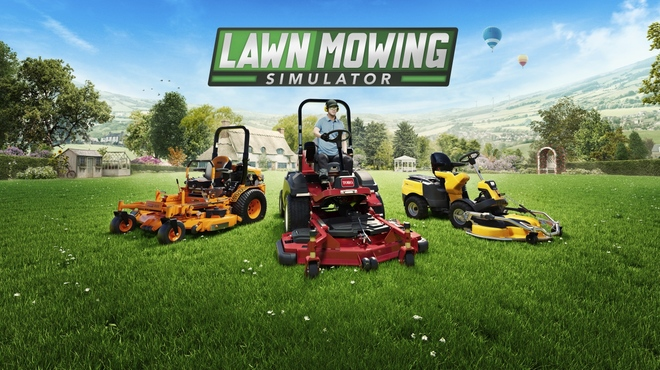 You can mow the lawn from summer in this lawn mower simulator