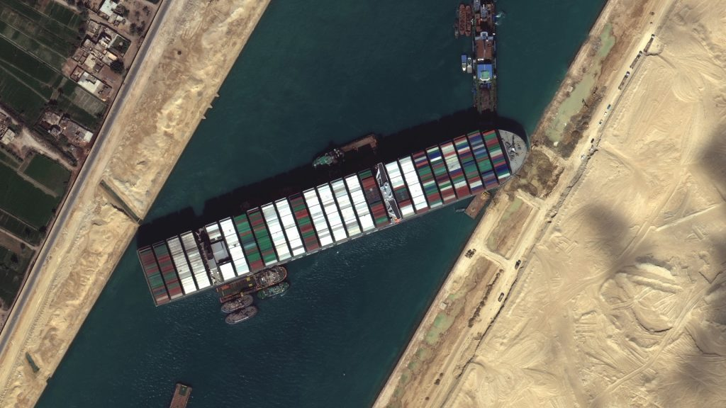 The ship that was blocking the Suez Canal moved