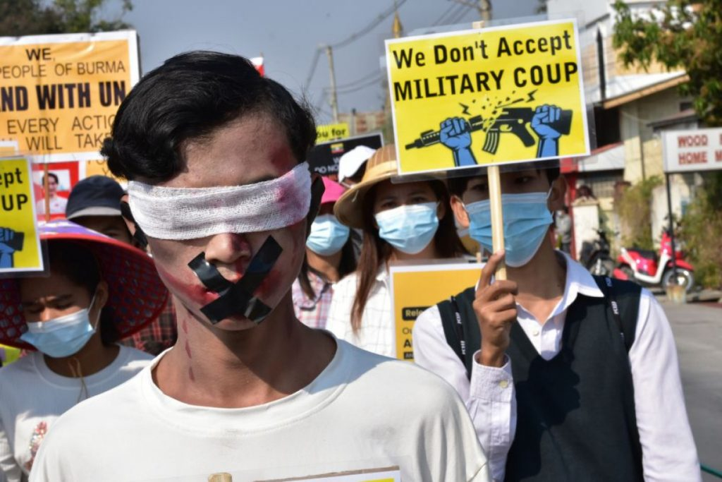 Washington imposed more sanctions on the leadership of Myanmar
