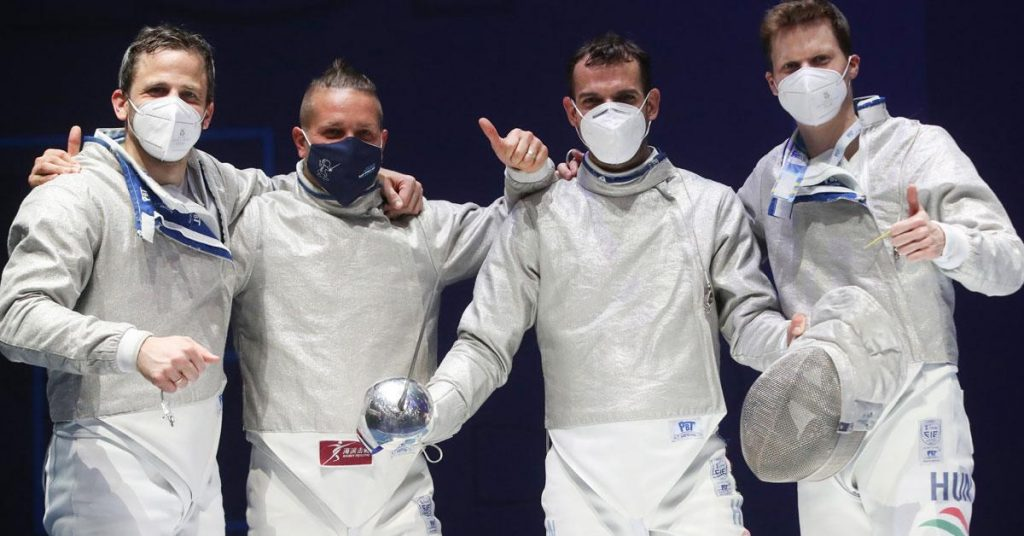 Fencing: The Hungarian men's team won a bronze medal at the Wings Sword Race in Budapest