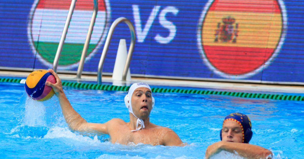 Index - Sports - World Water Polo League: The Hungarian national team defeated the Spaniards in a stormy five-meter match