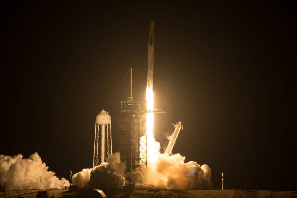 SpaceX arrives at the International Space Station with four astronauts on board