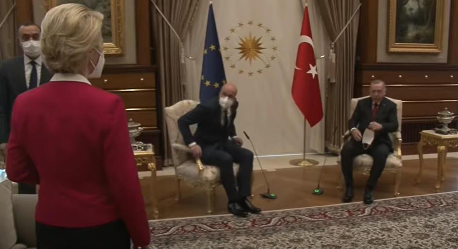 Von der Leyen did not get a chair when European Union leaders negotiated with Erdogan
