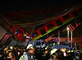 A bypassed subway is devastated in Mexico City, killing 20 people