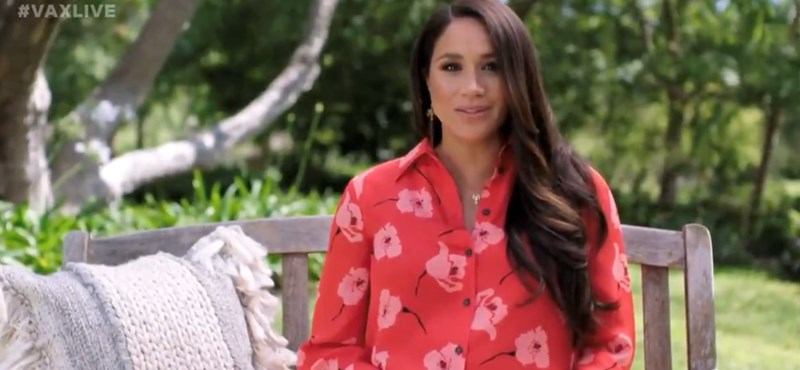 Meghan Markle spoke to the audience again from the park