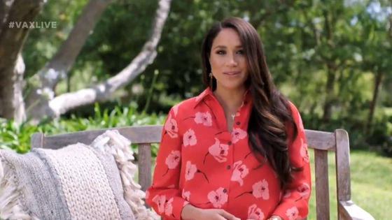 Cult: Meghan Markle spoke to the audience again from the park