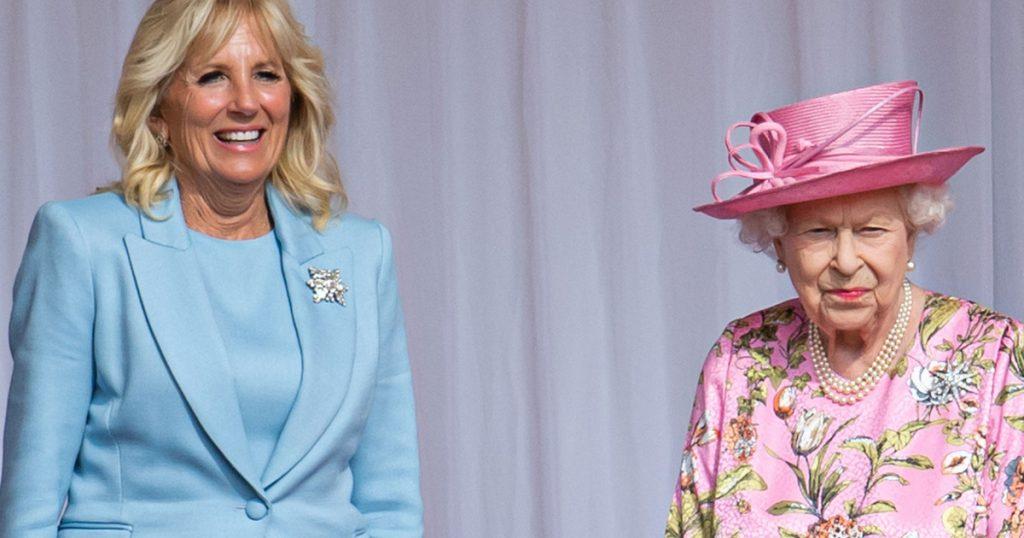 Jill Biden met the Queen in a blue dress: Catalin could also meet the first lady - world star