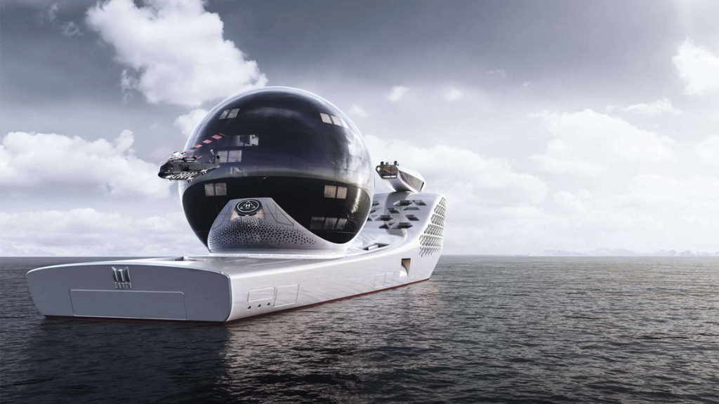 The giant science yacht will also be bigger than the Titanic