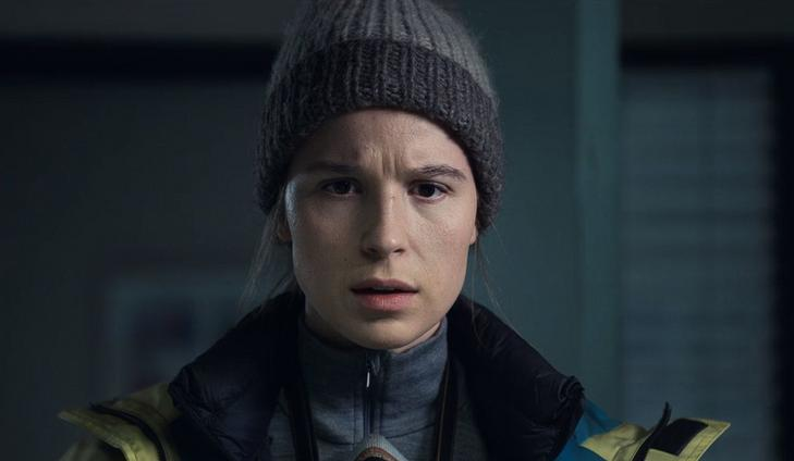 Grima (Gudrún Yr Eyfjörd) is one of those who refuse to leave Vike, who has been hit by a natural disaster / Image: Netflix