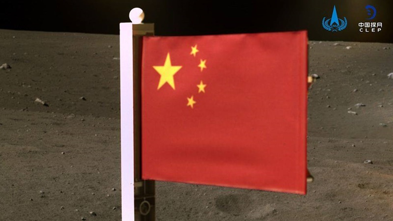 China is the second country to fly a flag to the moon