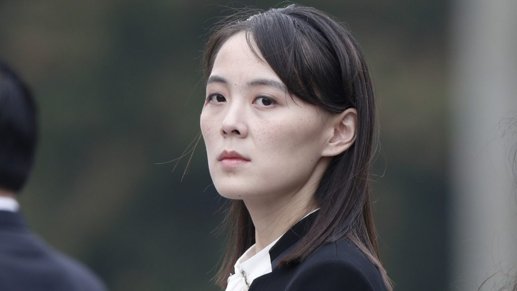 Kim Jong-un's sister sent a mysterious message to the United States
