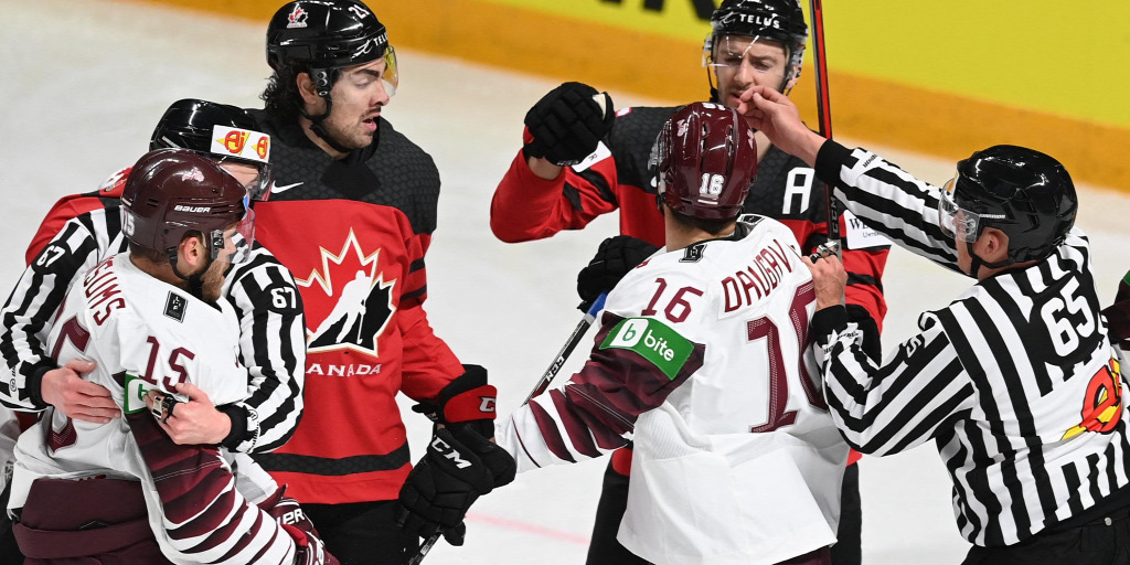 The Hockey World Cup started with a bombshell: Latvians defeated Canada