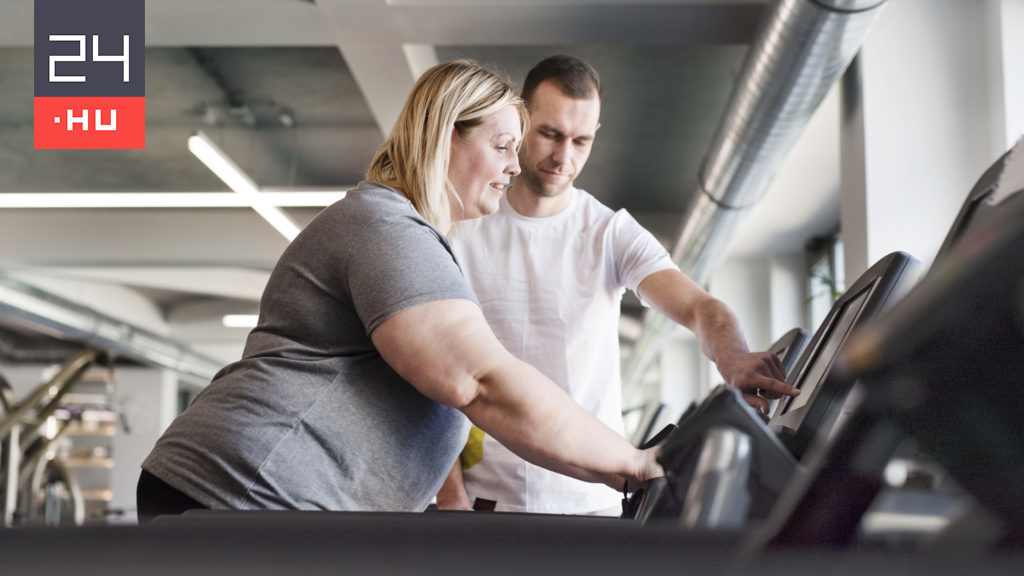 The chubby girl was engaged to a fibrous fitness trainer