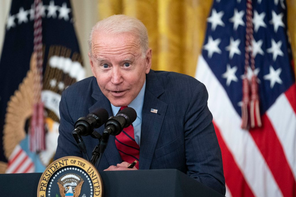US President Joe Biden acted very strangely at a press conference مؤتمر