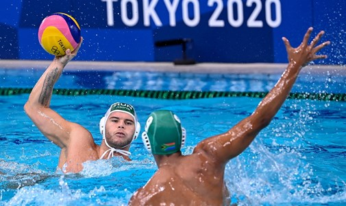 Hungarian men's water polo team beat South Africa 23-1 - live from the Olympics
