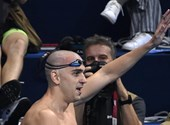 László Cseh ended his career with a great swim in the video