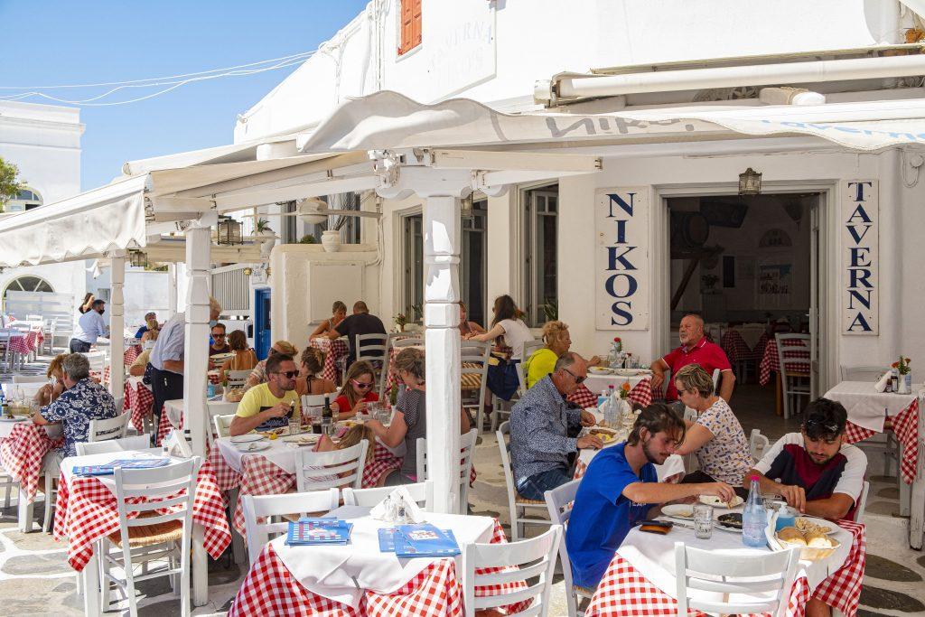 A curfew was imposed again on the Greek island of Mykonos