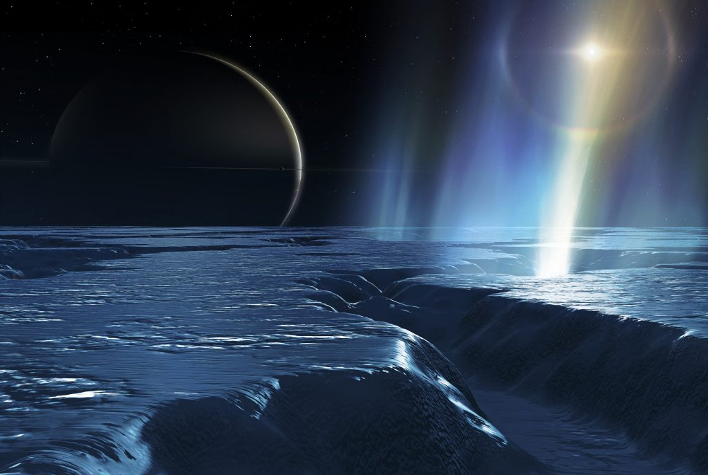 Signs of life can be seen on Saturn's moon