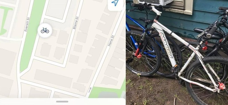 The man's bike was stolen, and Apple's AirTag showed him his whereabouts