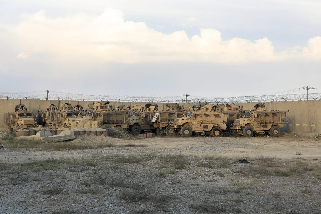 The Americans who withdrew from Afghanistan left dozens of military vehicles and other vehicles