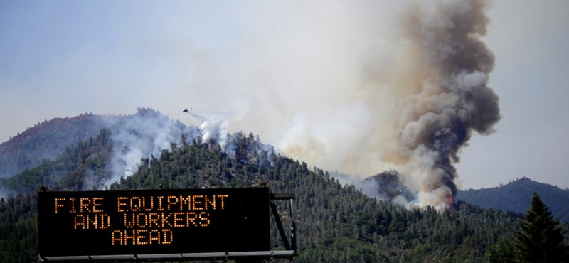 A massive fire is raging in the western states of the United States