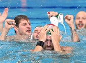 Hungarian men's water polo team won a bronze medal