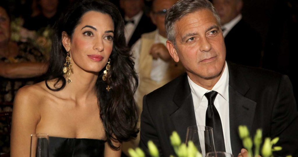 George and Amal Clooney are beaten up by their neighbors: annoying as you disfigure - star of the world