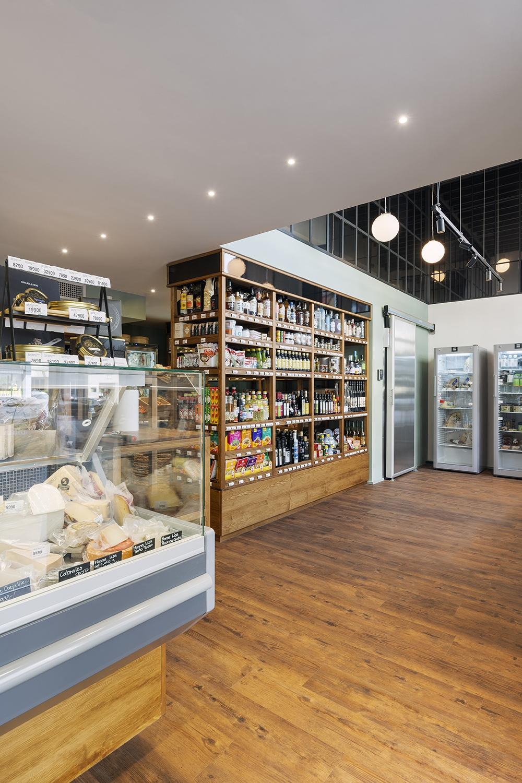 You can reach the restaurant through the adjacent delicatessen