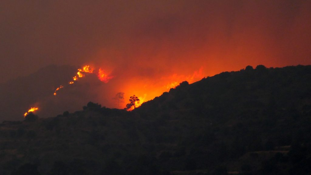 Forest fires are raging in Cyprus, and many settlements had to be evacuated
