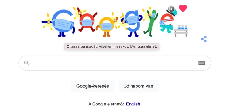 Covid-19 prevention: a warning posted on the Google homepage