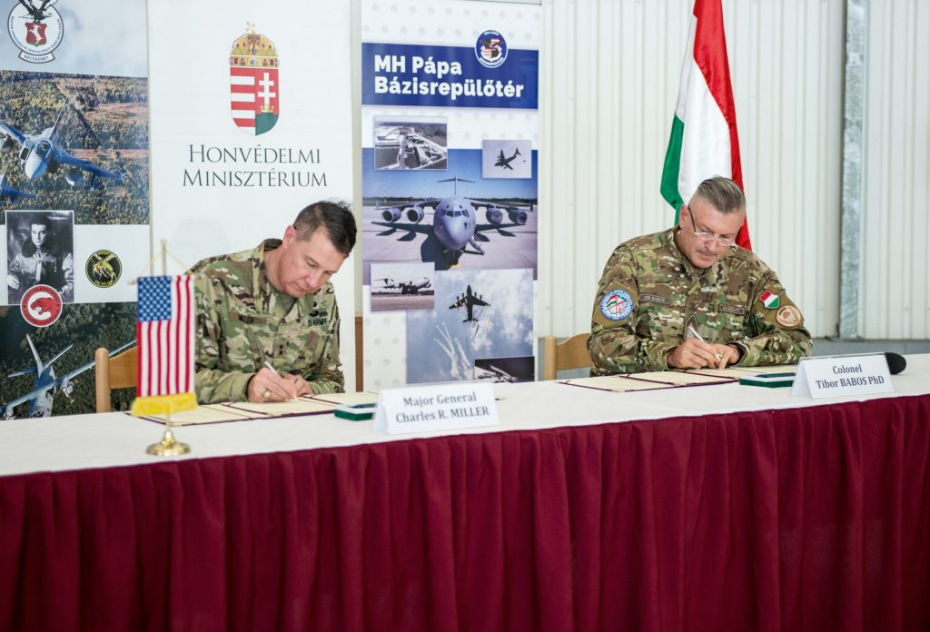 The United States and Hungary sign implementing agreements on the use of air bases