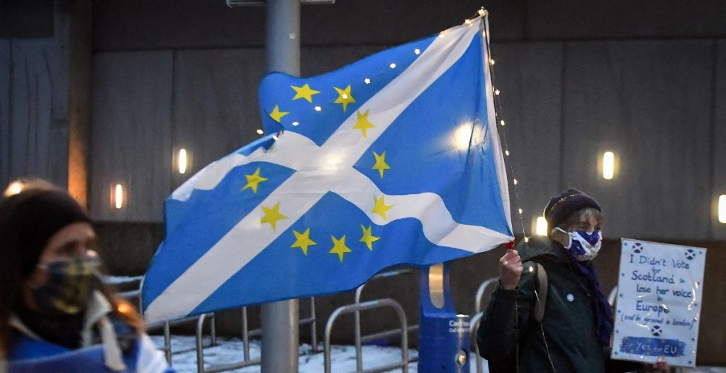 There is debate about Scotland's membership in the European Union by players in European cultural life