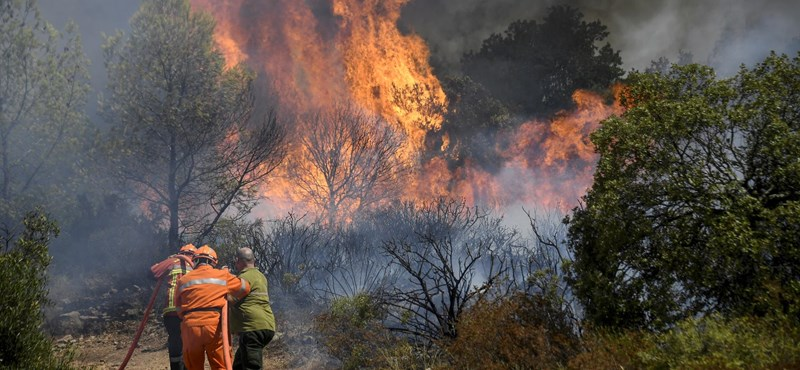 Forest fires raged near the French Riviera, many given only minutes to escape