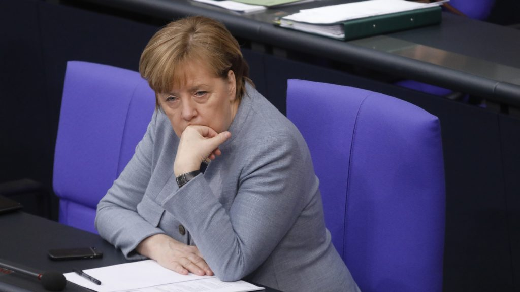 With Angela Merkel gone, his entire party could fail