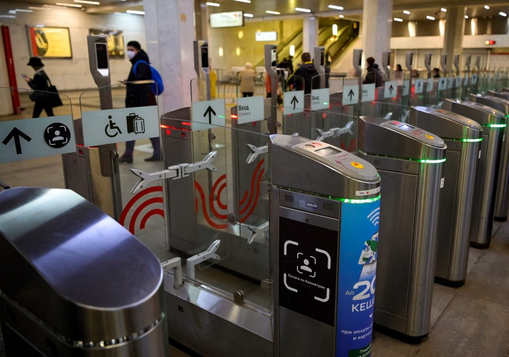 A face recognition access control system has been installed at Moscow metro stations