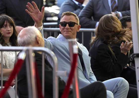 Cult: Daniel Craig received a star on the Walk of Fame