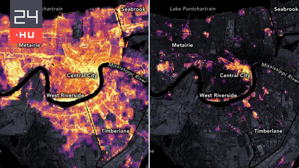 Satellite images of the devastation caused by Hurricane Ida