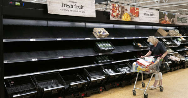 Shelves are empty, and there is a huge shortage of products in the UK